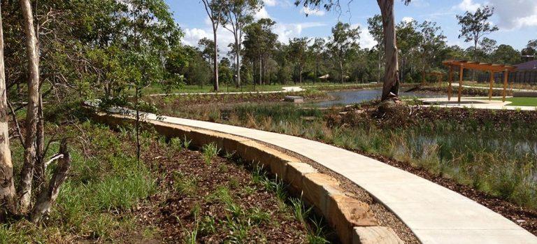 Glenmay Court Wetlands Sandstone Pathways