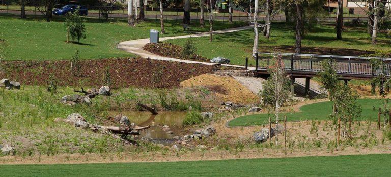 Garnett Lehmann Park Pathways and Gardens