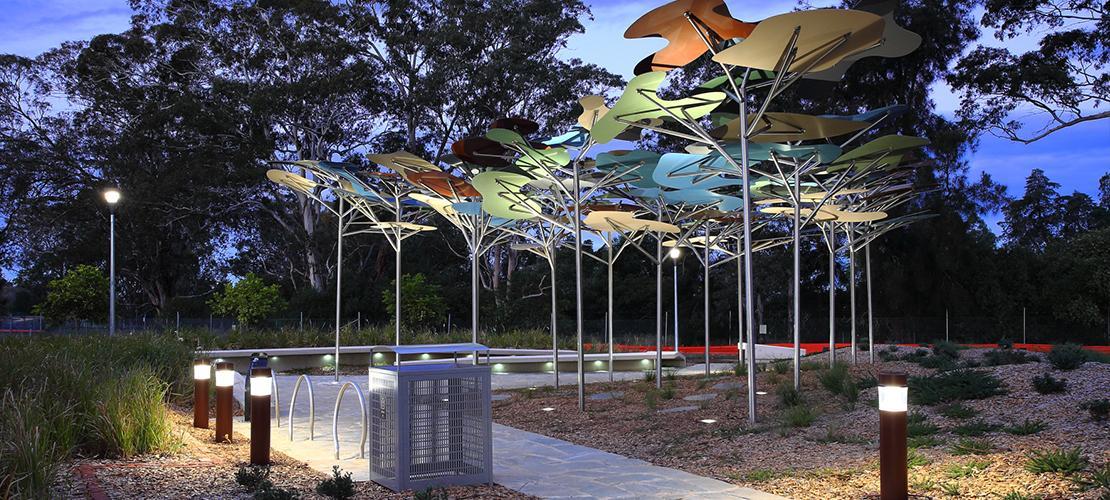 Gateway Park - Edmondson Park, Landscape Construction