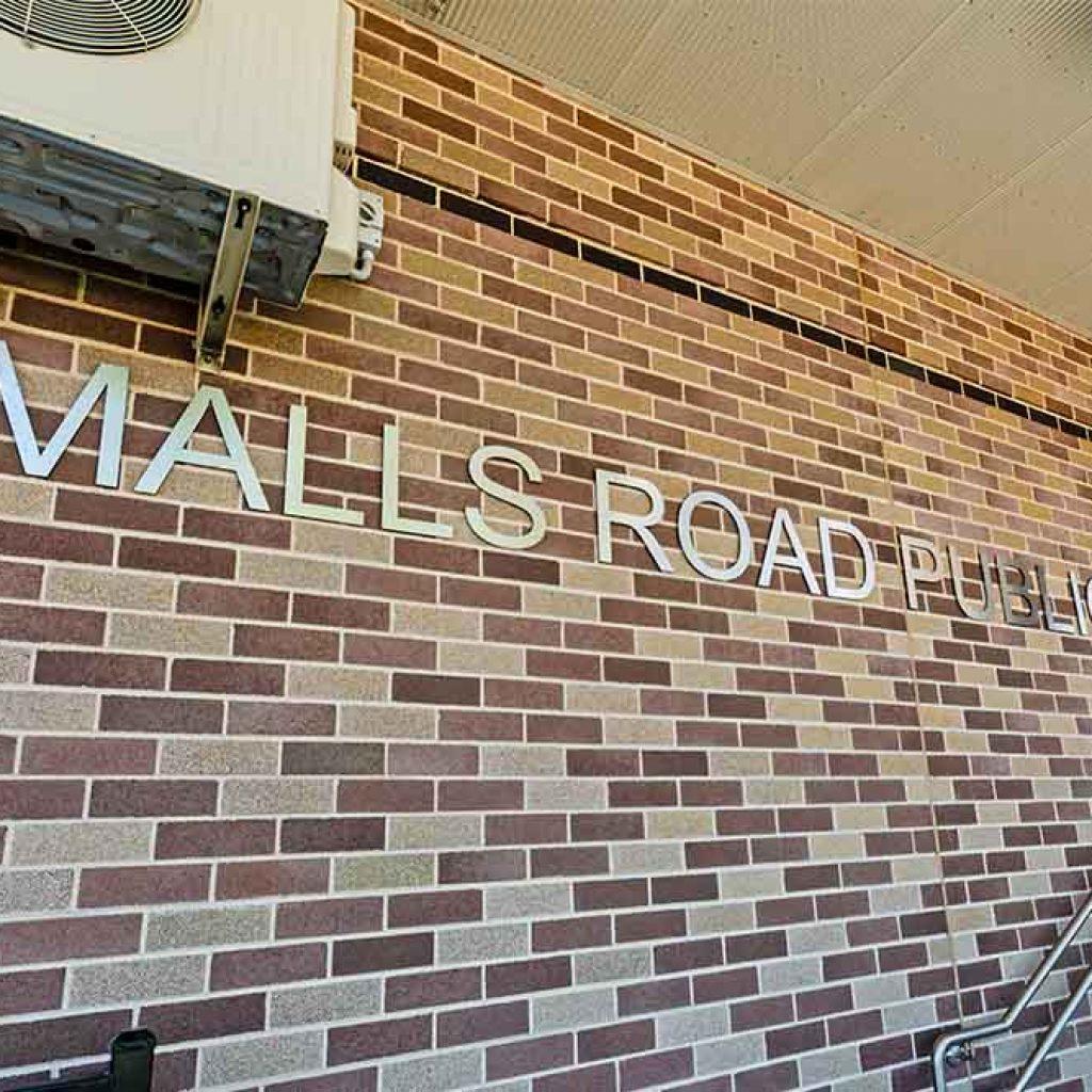 Smalls Road Public School Entry Signage