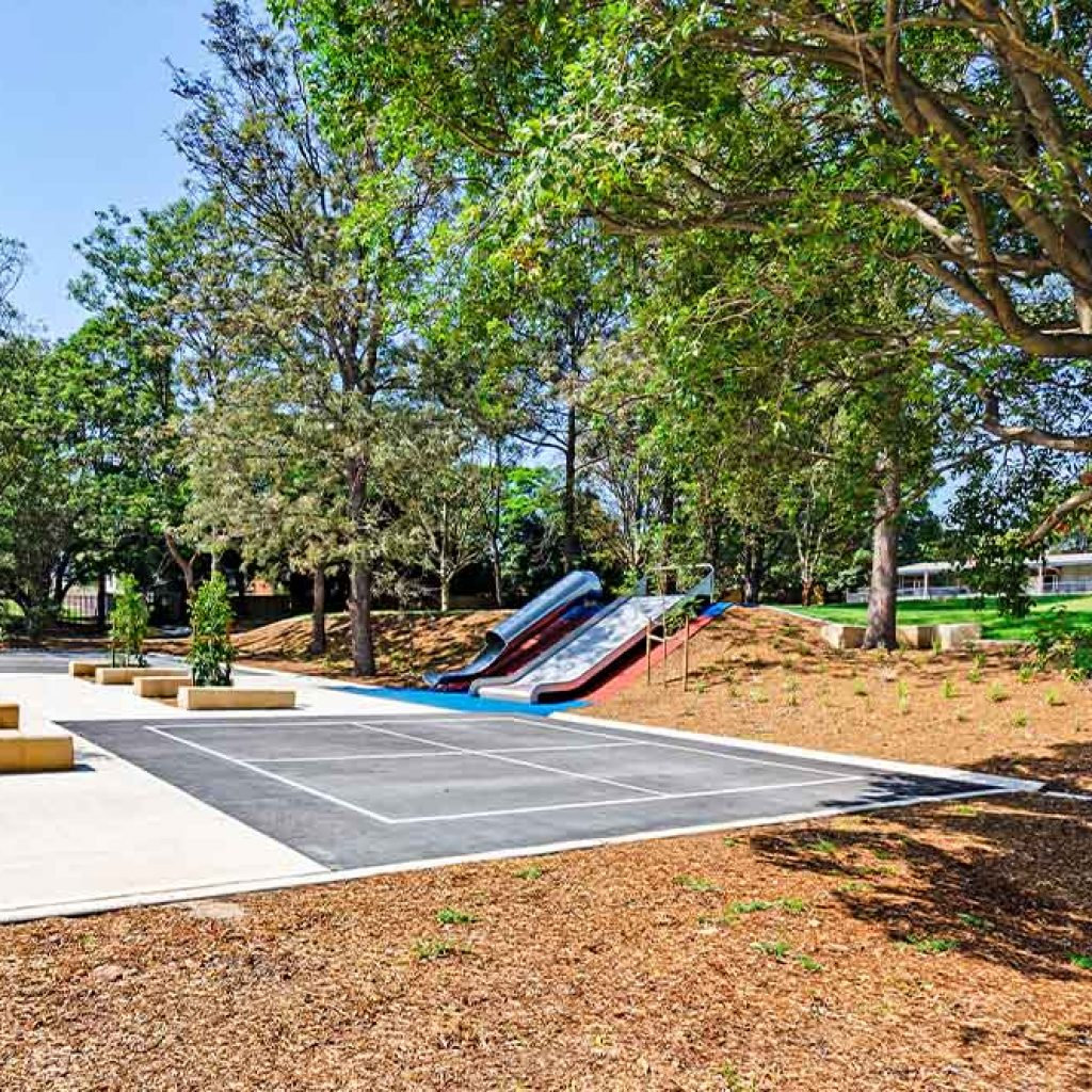 Smalls Road Public School Slide & Seating Area