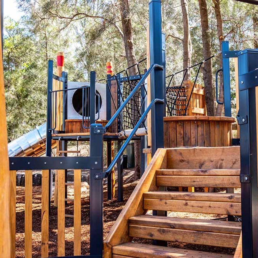 Wangal Reserve playground stairs