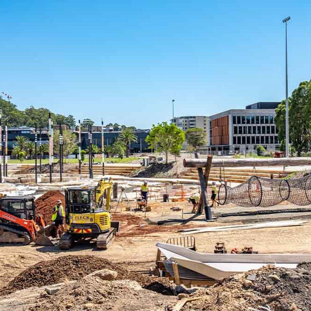 Leagues Club Park Gosford Under Construction