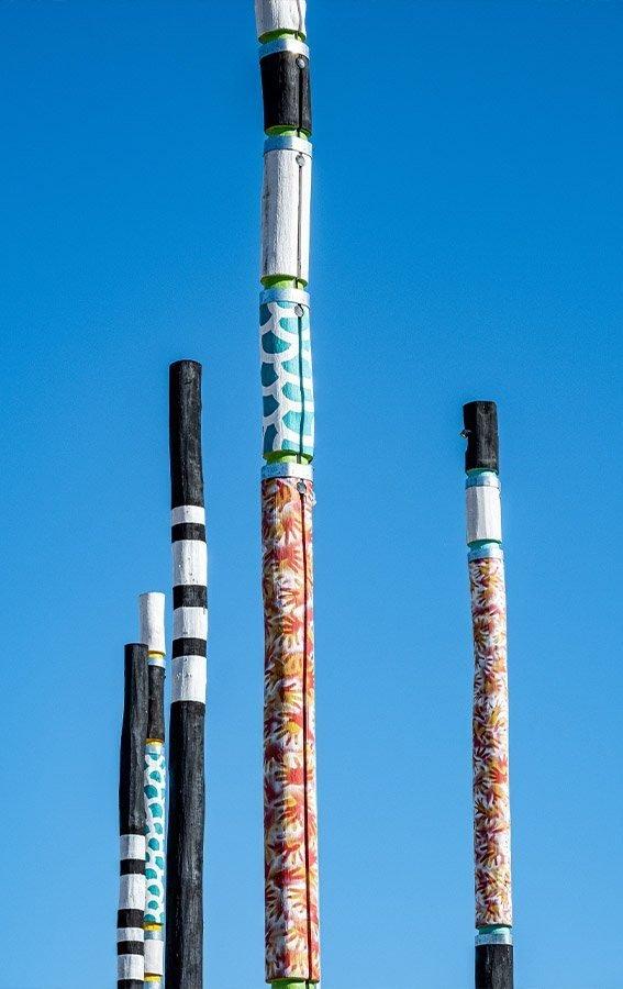 Leagues Club Park Gosford Totem Pole Detail